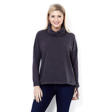 MarlaWynne Cowl Neck Drawstring Top