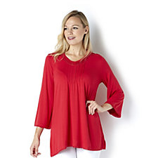 Fashion by Together Picot Lace Detail Jersey Tunic