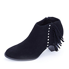 Vionic Orthotic Faros Suede Fringed Shoe Boot w/ FMT Technology