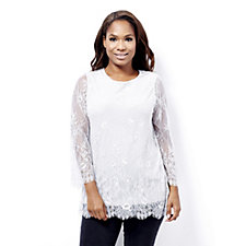 Together Lace & Jersey Body Lined Tunic