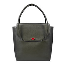 Lulu Guinness Large Eloise Grainy Leather Tote Bag