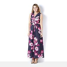 Grace Twist Knot Floral Print Maxi Dress