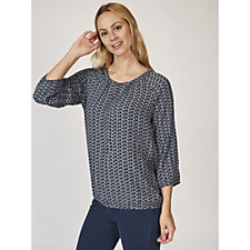Betty & Co Abstract Dog Print Top