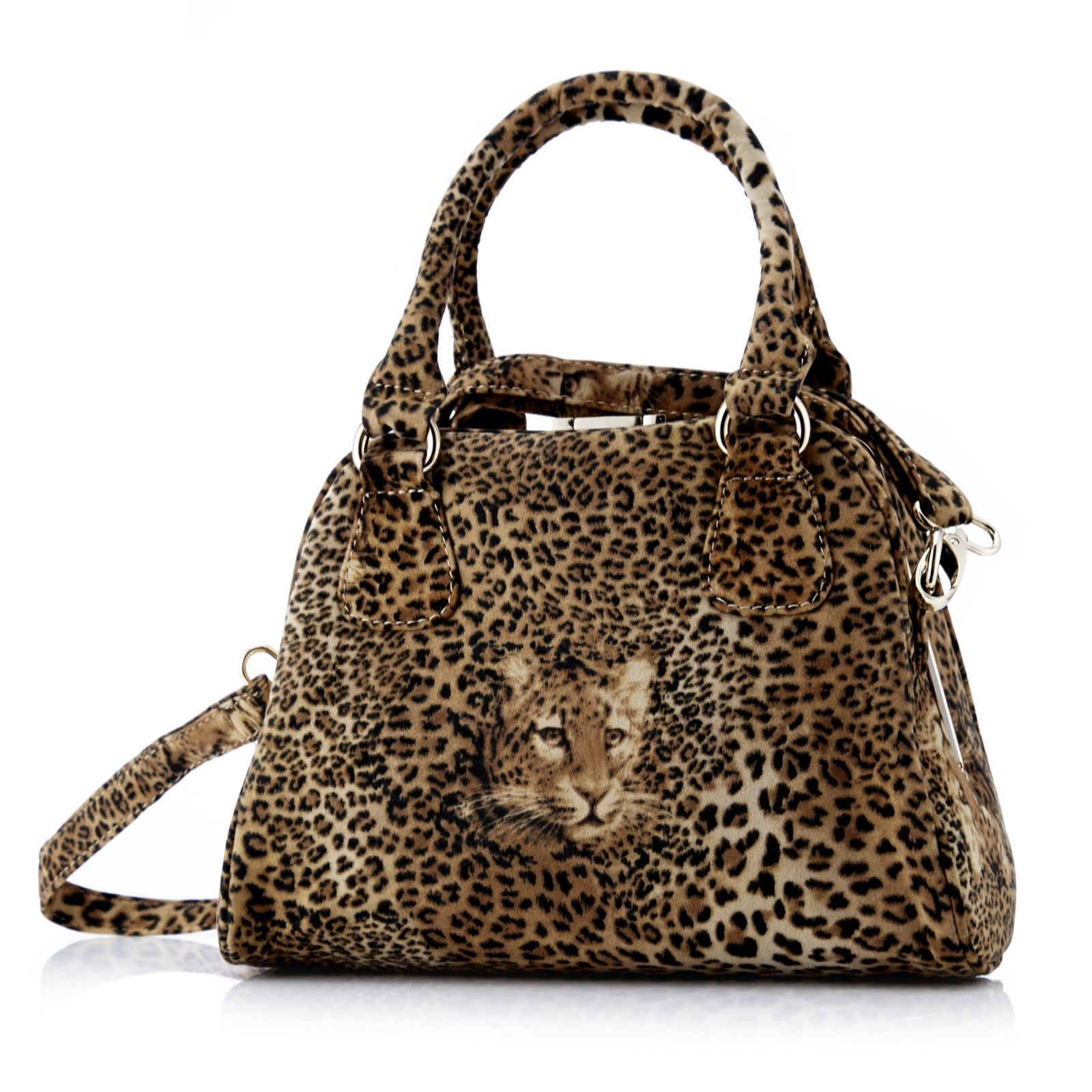 Butler Wilson Leopard Print Handbag With Removable Strap Page 1 Qvc Uk
