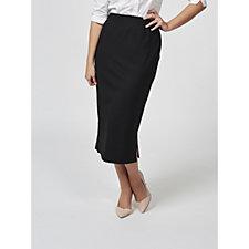 Kim & Co Side Slit Detail Ponte Pencil Skirt
