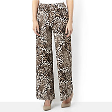144205 - Attitudes by Renee Printed Palazzo Trousers