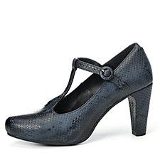 Adesso Minnie Snakeskin Effect T Bar Mary Jane Shoe