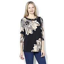 160205 - Artisan Printed Embellished Top by Susan Graver