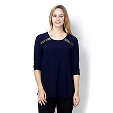 Inset Raglan Sleeve Tunic by Nina Leonard