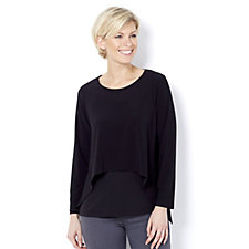 Yong Kim Dip Side Layering Top with Long Sleeves