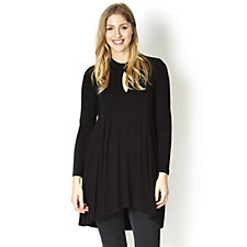 Join Clothes Keyhole Detail Long Sleeve Tunic Dress