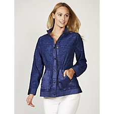 Isaac Mizrahi Live Burnout Jacket
