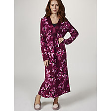Carole Hochman Midnight Floral Long Night Gown