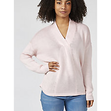 MarlaWynne V Neck Long Sleeve Knitted Top