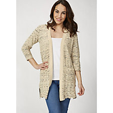 Isaac Mizrahi Live 3/4 Sleeve Open Front Cardigan with Front Pockets