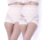 Slim 'n Lift Lace and Solid Brief 2 Pack