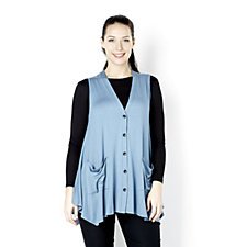 Yong Kim Modal Waistcoat with Placket & Pocket Detail
