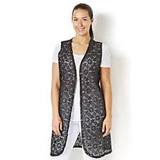 159306 - Crochet Lace Waistcoat by Michele Hope