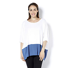 Join Clothes Two Tone Jersey Top