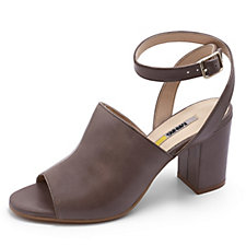 Manas Peep Toe Shoe with Ankle Strap