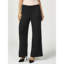 Bob Mackie Jersey Knit Elasticated Waist Pull On Trousers