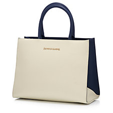 Smith & Canova Sophie Leather Tote Bag with Detachable Strap