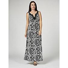 165606 - Ronni Nicole Sleeveless Maxi Dress with Beaded Neckline