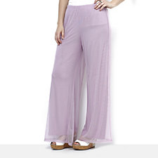 Antthony Designs Mesh Overlay Palazzo Trousers