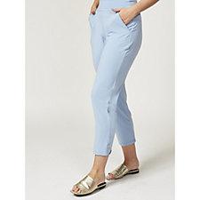 Kim & Co Crepe Narrow Leg Trousers with Side Pocket