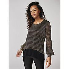 Shimmer Overlay Tunic by Michele Hope