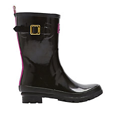 Joules Mid Height Gloss Kelly Welly