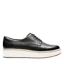 Clarks Teadale Rhea Flat Form Shoe Wide Fit