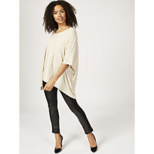 Join Clothes Lurex Dolman Sleeve V Neck Top