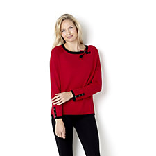 Marble Bow Neck 2 Tone Jumper