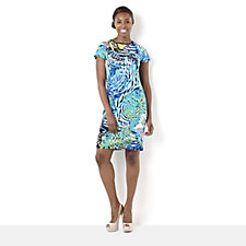 Tiana B Palm Print Shift Dress