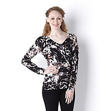 Knitwear by Etoile Printed V-Neck Jumper