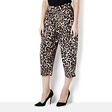 Kim & Co Brazil Knit Printed Crop Relax Trouser