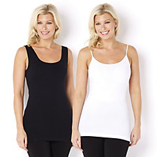 skinnytees Seamless Tank Top & Camisole Set