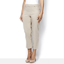 MarlaWynne Flatter Fit with Mesh Panel Pull On Crop Trouser