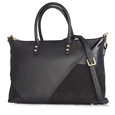 Lulu Guinness Medium Frances Leather Panel Applique Handheld Bag