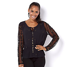 Biba Embroidered Peasant Blouse