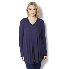 Anybody Loungewear Brushed Hacci V Neck Swing Top