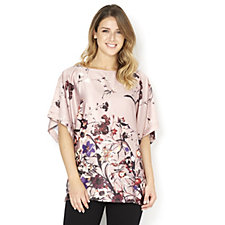 Butler & Wilson Assorted Flowers Open Neck Short Sleeve Top