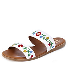 Ravel Savannah Embroidered Leather Sandal