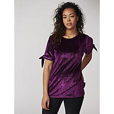 Split Sleeve Velvet Tunic by Michele Hope