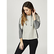 MarlaWynne Brushed Double Knit Colour Block Hoodie