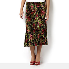 Bloomingdale Floral Burnout Lined Skirt by Michele Hope