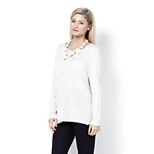 MarlaWynne Whisper Knit Butterfly Tee with Piping Detail