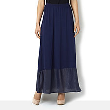 Join Clothes Long Jersey Skirt with Luxe Panel Hem