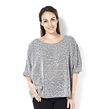Join Clothes Scoop Neck Textured Knit Top